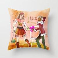 shopping Throw Pillows featuring Shopping by hazukei