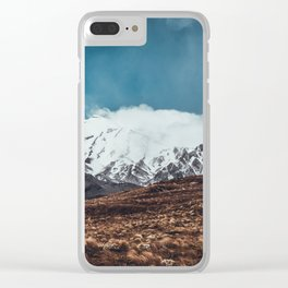 Vintage Landscape Clear iPhone Case