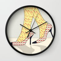 shoes Wall Clocks featuring Shoes by Ben Geiger