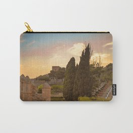 Sunset in castle La Alcazaba Carry-All Pouch