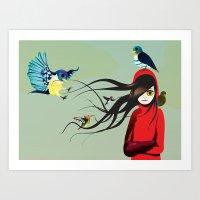 birdseye Art Print