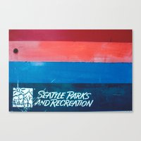 parks and recreation Canvas Prints featuring Seattle Parks & Recreation by TriReeval