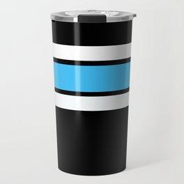 Team Colors 2..light blue ,white Travel Mug
