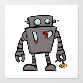 Rob the sad robot Canvas Print