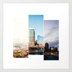 A day in Boston Art Print