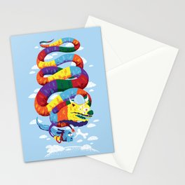 Stan, the Forgotten Luckdragon, and His Italian Skydog Skeletori Stationery Cards