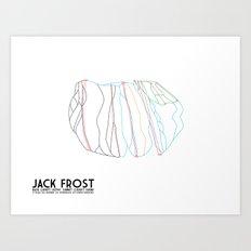 Jack Frost Ski Resort, PA - Minimalist Trail Maps Art Print