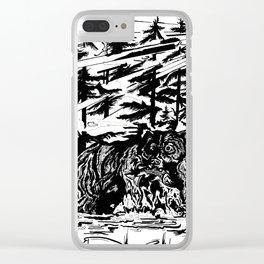 Gone Fishin' Clear iPhone Case