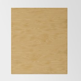 Oak Wood Texture Throw Blanket