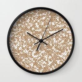 Iced Coffee Pixels Wall Clock