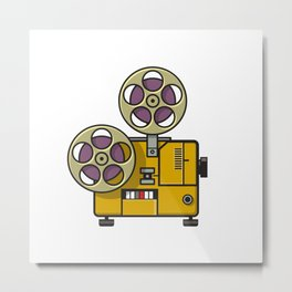 Vintage Movie Film Projector Retro Full Color Metal Print