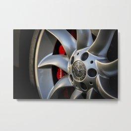 Mclaren SLR Wheel Metal Print