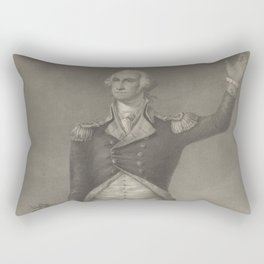 Vintage George Washington Portrait (1854) Rectangular Pillow