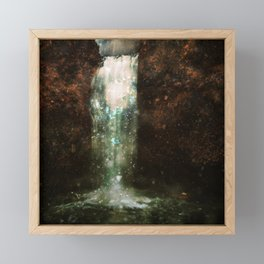 floral waterfall art altered landscape photography Framed Mini Art Print
