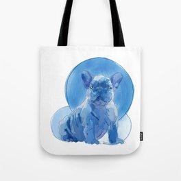 Monochromatic French Bulldog Tote Bag