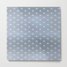 elegant silver star pattern Metal Print