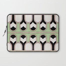 Vintage Mint Green Assyrian Pattern with a hint of Art Deco Laptop Sleeve