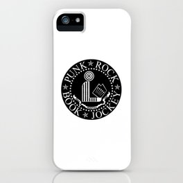 Punk Rock Book Jockey Black Logo iPhone Case