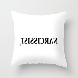 Narcissist Throw Pillow