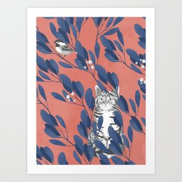 in the wild // repeat pattern Art Print