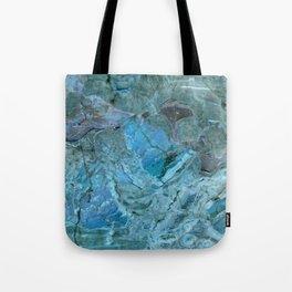 Oceania Teal & Blue Marble Tote Bag
