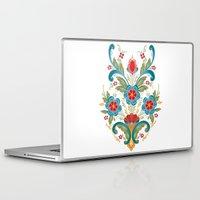 nordic Laptop & iPad Skins featuring Nordic Rosemaling by Helen Borrowman Davison