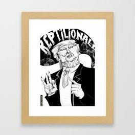 Reptilionald Trump Framed Art Print