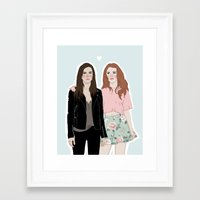 lydia martin Framed Art Prints featuring Cora Hale/Lydia Martin by vulcains