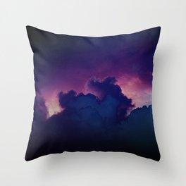 Bad Ass Purple Sky Throw Pillow