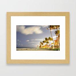 Beachlife at night  Framed Art Print
