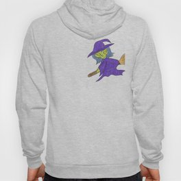 Little Witch on broom Hoody