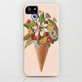 Ice Cream Floral (Salmon) iPhone Case