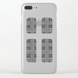 Ambient 10 in black and white Clear iPhone Case