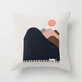 Cat Landscape 70 Throw Pillow