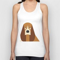 the hound Tank Tops featuring Basset Hound by Page 84 Design