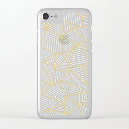 Ab Out Double R Navy Clear iPhone Case