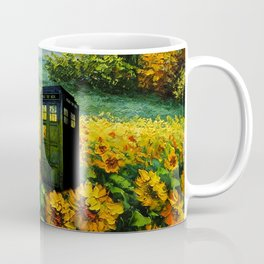 tardis  in the flower garden Coffee Mug