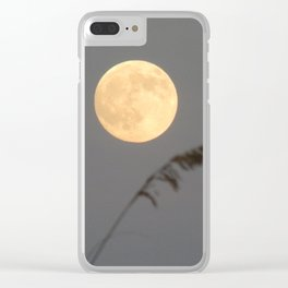 Follow the moon Clear iPhone Case