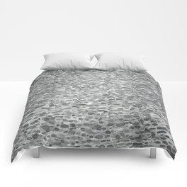 Gray Lake Raindrops Comforters