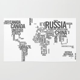 World Map - Atlas Rug