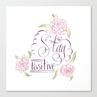 positive Canvas Prints featuring Positive by Yasmina Creates