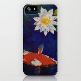 Kohaku Koi and Water Lily iPhone Case