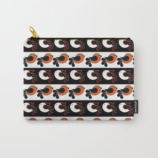 orange and white birds Carry-All Pouch