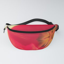 Red Flower Close Up Fanny Pack