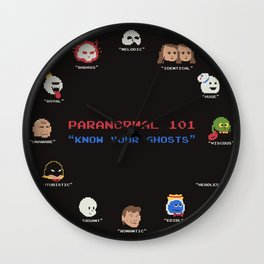 Paranormal 101 Wall Clock