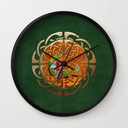Peacock Celtic Deco Wall Clock