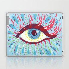 Weird Blue Psychedelic Eye Laptop & iPad Skin
