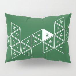 Green Unrolled D20 Pillow Sham