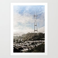The Peaks Art Print