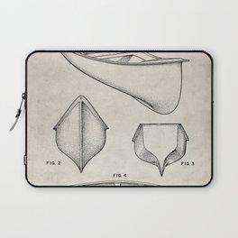 Canoe Patent - Kayak Art - Antique Laptop Sleeve